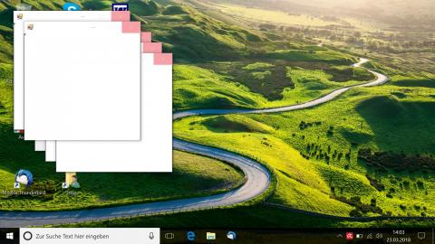 Popup Fenster Desktop Windows 10